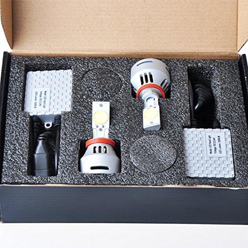 Suparee 70W 3200X2Lm H11 Cree Xlamp Mtg2 Led Auto Head Lights Conversion Kit 6500K Super White