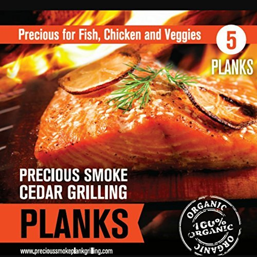 Fantastic Deal! Precious Smoke 5pk Cedar Planks for Cooking Salmon