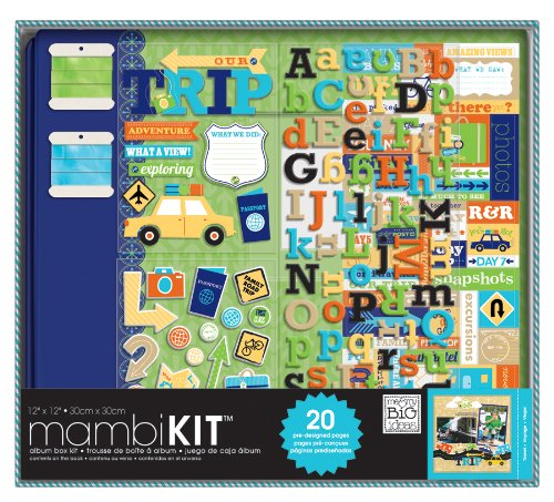 Me and My BIG Ideas BOX-59 12-Inch by 12-Inch Scrapbooking Kit, Our Trip Adventure
