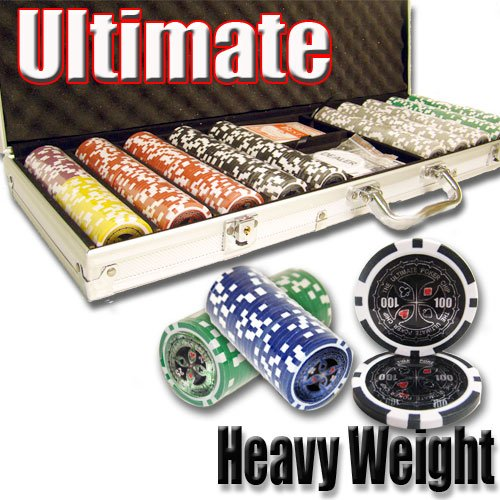 500 Ultimate Poker Chip Set. 14 Gram Heavy Weighted Poker Chips.