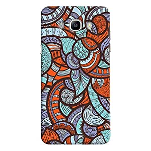 ColourCrust Samsung Galaxy J7 (2016) Mobile Phone Back Cover With Colourful Abstract Art - Durable Matte Finish Hard Plastic Slim Case