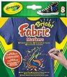 Crayola 58-8176 - 8 Textilstifte, kombinierbar mit Marker Airbrush