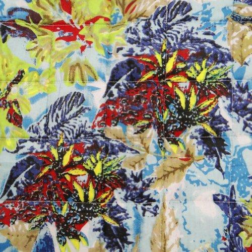 Blanco Edredón Decorativo arte sanal Reverssible Colcha de tamaño doble floral Gudri India 94 X 60 pulgadas;
