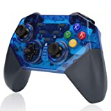 WILLGOO Wireless Switch Pro Controller, Support:Gyro Motion Controls Dual Shock,Great for Nintendo Switch Zelda/Splatoon 2/Star Allies/Mario Odyssey etc. (Blue) (Color: Blue)