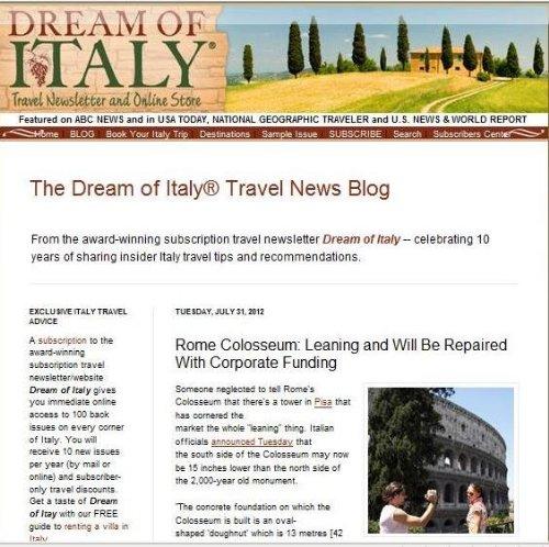 Dream of Italy Travel Blog