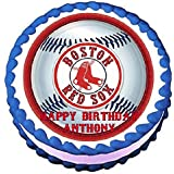 """Boston Red Sox Edible Frosting Sheet Cake Topper - 7.5"""" Round"""