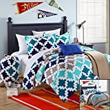 Chic Home 8-Piece Byte Comforter Set with Shams Decorative Pillows and Sheet Set Twin