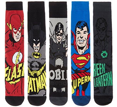 dc-comics-superhero-mens-3-pack-5-pack-and-8-pack-ribbed-socks-featuring-justice-league-heroes-batma
