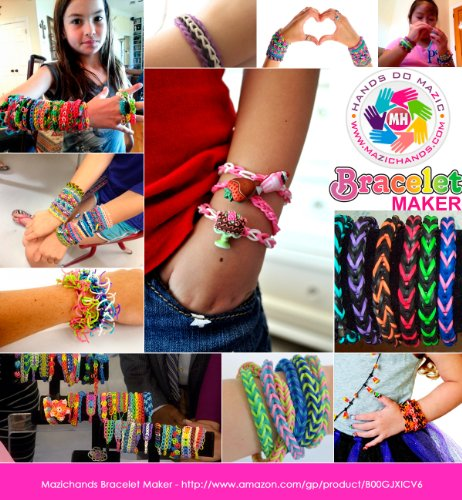 Arts and Crafts For Girls - Best Birthday Gifts Toys DIY Kit For Girls Boys Above 6 Year Old - Premium BraceletJewelry Making Kit aka Friendship Bracelet Maker Craft Kits With Loom - Rubber Bands - Clips Manual Included - Arts Crafts Bracelets Kit Toy by Mazichands