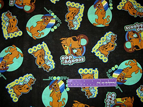 """43"""" Wide Scooby Doo Cartoon Cotton Fabric By The Half Yard front-242119"""