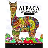 Alpaca Coloring Book: Animal Adults Coloring Book