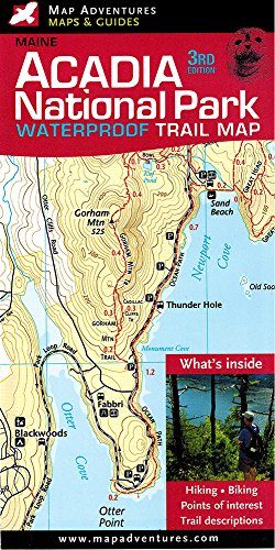 Acadia National Park Waterproof Trail Map, Maine