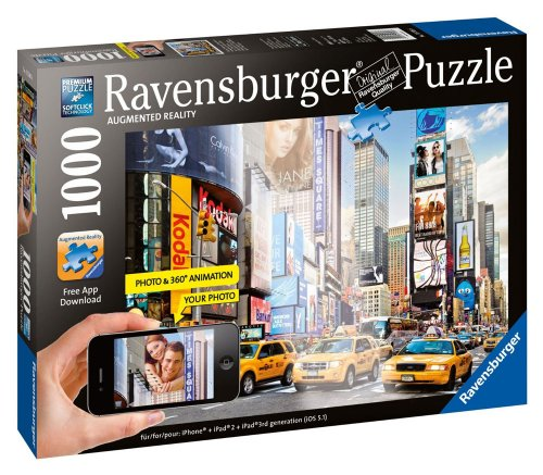 Colorful Activity at Times Square Augmented Reality Jigsaw Puzzle, 1000-Piece - 1