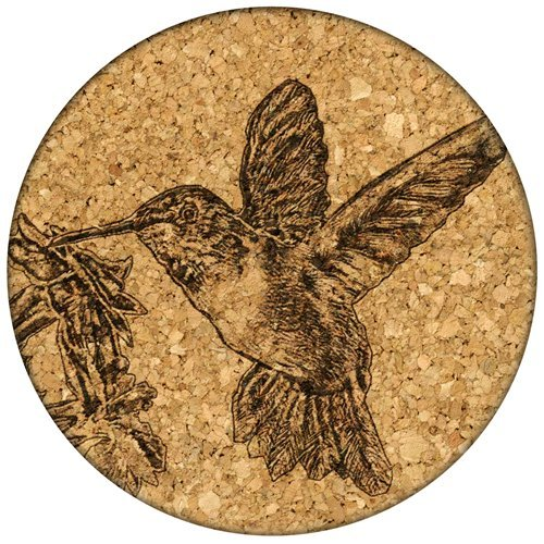 Grafixmat Coaster, Hummingbird, Made In The Usa