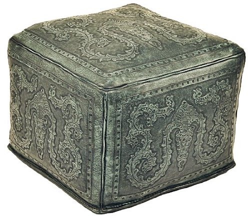 New World Trading Large Ottoman, Colonial, Turquoise