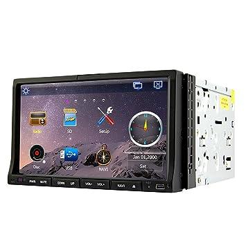 "Rungrace Station Multimedia Automobile 7"" 2 Din Ecran TFT avec Bluetooth, Automobile-Ready GPS, RDS, ATV (RL-203WGAR02"