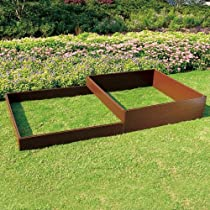 Big Sale Tierra Garden 4424 Recycled Plastic 4-Feet by 4-Feet Raised Bed