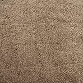 Furniture Fresh Heavy-Weight Luxury Textured Microsuede Pebbles Furniture Protector and Slipcover with Anti-slip Non-slip Backing (Sofa, Natural)-Water Repellant