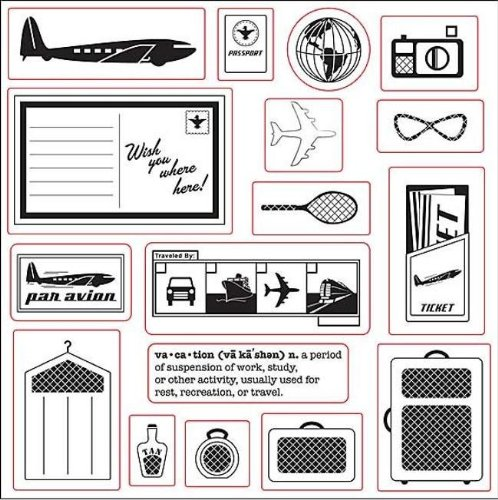 Fiskars 01-002674 Fiskars 17-piece Clear Rubber Vacation Stamp Set