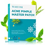 WAYCOM Acne Pimple Master Patch-63 Count,Acne Patch Covers -White and Black Combination Hydrocolloid Acne Pimple Tea Tree Oil Anti-inflammatory Sterilization Fast Healing Drug-Free Breathable (Color: White48+black15)