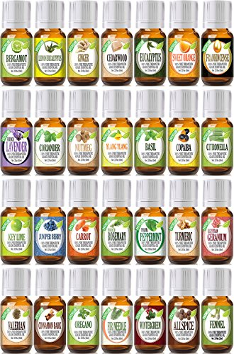 Best of the Best Portfolio with Mixing Bottles 28 100% Pure Therapeutic Grade Essential Oil Set - 28/10 mL