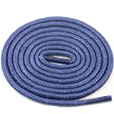 Love Laces 3mm Round Wax Cord Laces Shoe Brouges Thin Stylish Brown Blue Rope Vintage Blue 205