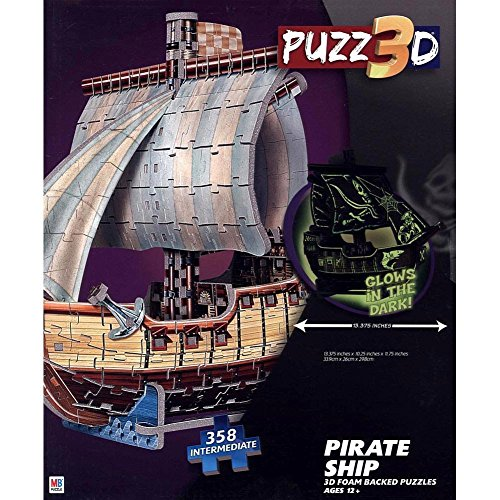 Pirate Ship 3D Puzzle by Cardinal by Hasbro - 1