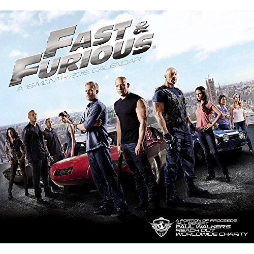 The Fast And The Furious 2015 Wall Calendar