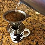 The Brewologist Pour Over Coffee Cone, the Clever Coffee Dripper: Permanent, Reusable, Stainless Steel Coffee Filter and Brewer with Pour Over Coffee Stand (2 cup)