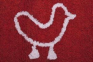 Lorena Canals Alfombra Infantil Lavable Modelo Granja Color Rojo en BebeHogar.com