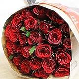 彼女への贈り物には真っ赤なバラを♪ バラの花束 30本 カラー:レッド 結婚記念日 プレゼント 薔薇 誕生日祝い 贈り物