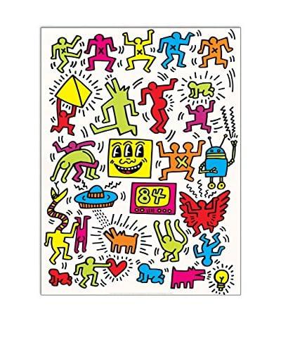 ArtopWeb muurschildering Haring Untitled 1984 - 80x60 cm