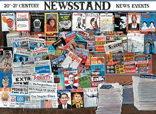 Ceaco Ken Keely 20-21st Century Newsstand Jigsaw Puzzle