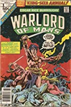 John Carter Warlord of Mars Annual 1 by Marv…