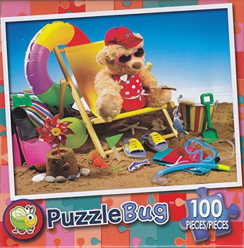 Puzzlebug 100 Piece Puzzle ~ Beachy Bear - 1