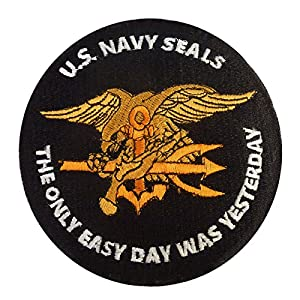 US Marine Navy Seals The Only Easy Day Was Yesterday SOCOM DEVGRU Velcro Écusson Patch