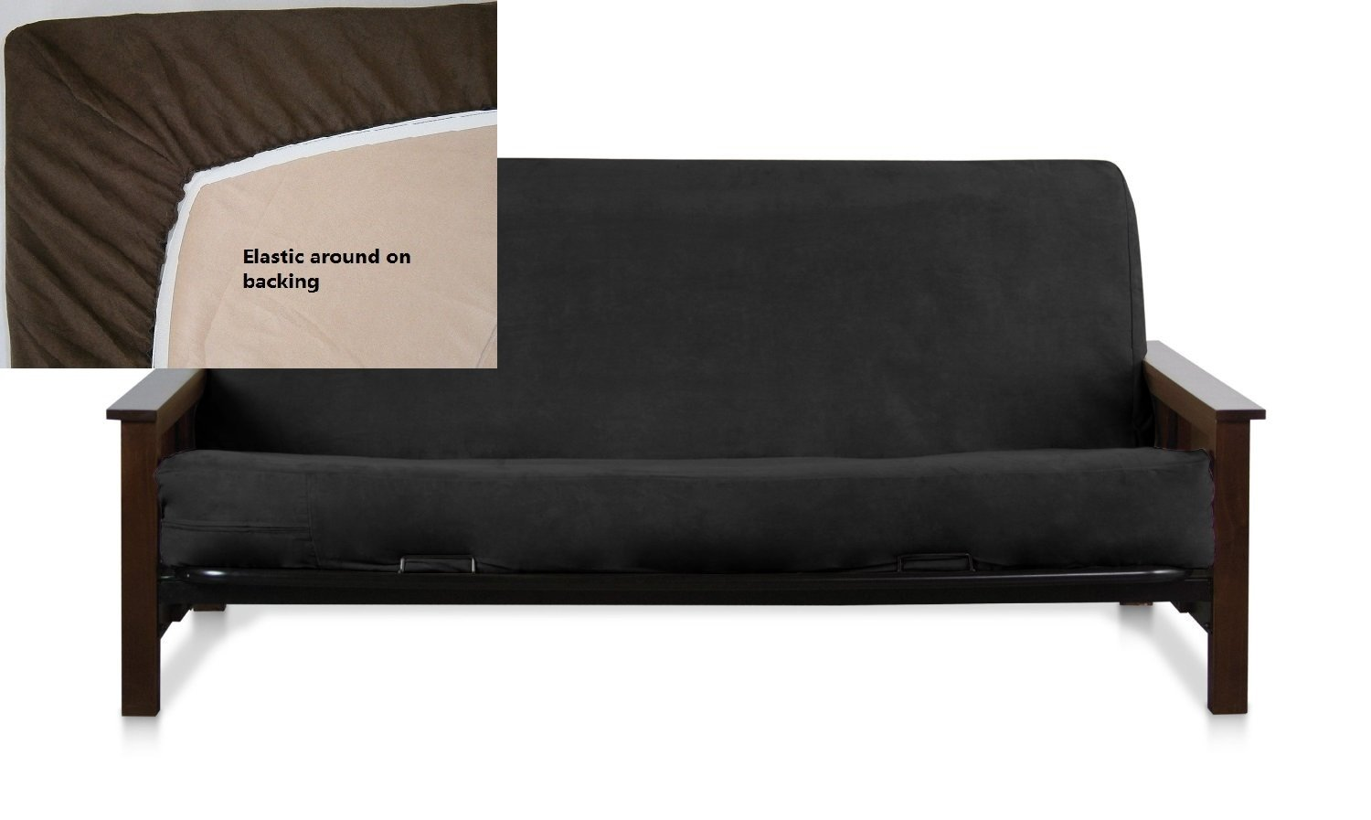 New futon cover only full size sofa couch covers black Loveseat futon cover