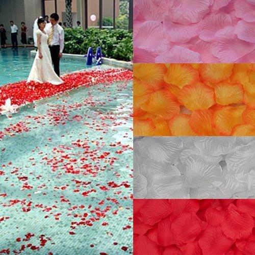 1000pcs pétales de Rose en soie Idéal pour la Saint-Valentin ou mariage (Rouge foncé)