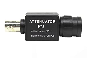 P78 20:1 Signal Attenuator 10MHz Bandwidth Oscilloscope Accessories BNC Adapter Oscilloscopio HT201 Upgrade