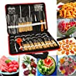 Bluelover 80Pcs Portable Vegetable Fruit Food Chef Burin Carving Chiseling Tool Kit With Bag
