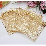 100 Pcs Organza Pouch Wedding Favor Gift Bags