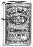 Zippo Jack Daniel's Label Pewter Emblem Pocket Lighter