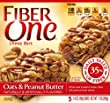 Fiber One Chewy Bars Oats and Peanut Butter, 5 Count (Pack of 12), 84 oz.