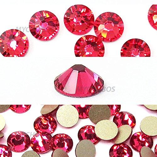 INDIAN PINK (289) Swarovski NEW 2088 XIRIUS Rose 34ss 7mm flatback No-Hotfix rhinestones ss34 18 pcs (1/8 gross) *FREE Shipping from Mychobos (Crystal-Wholesale)*