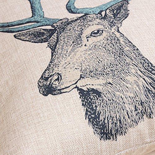 Generic Retro Cotton Linen Square Vintage Throw Pillow Case Shell Decorative Cushion Cover ...