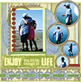 Quick Quotes Enjoy Life Canvas Wall Kit, 12-Inch by 12-Inch by 1-Inch