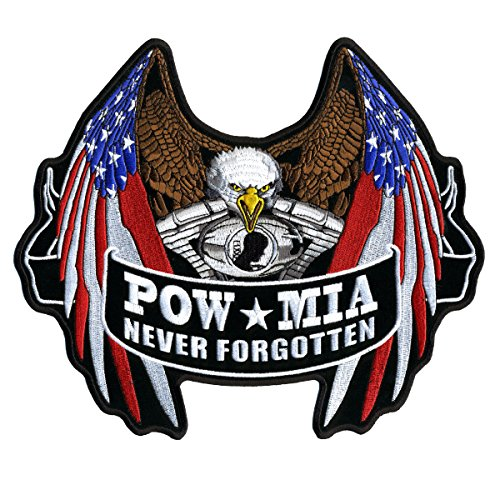 hot-leathers-pow-flag-eagle-pow-mia-never-forget-high-quality-sew-on-rayon-velcro-patch-5-x-4