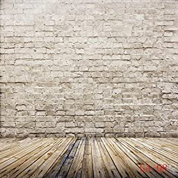 Ouyida 8x8ft Brick Wall Wood floor Pictorial cloth Customized photography Backdrop Background studio prop GA08