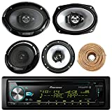 Pioneer DEH-X6900BT Car CD Player Receiver Bluetooth USB AUX Radio - Bundle Combo With 2x Kenwood 6.5