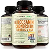 Glucosamine Chondroitin Turmeric MSM Boswellia & More Joint Pain Relief Supplement. Best Anti-Inflammatory and Antioxidant Pills by Vimerson Health. All Natural, Non-Gmo and Made in USA